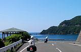 常神半島から海を見ながら走る