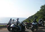 レインボーライン入口から日本海を望む