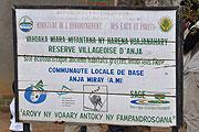 Reserve Villageoise d'Anja