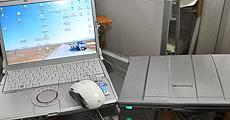 PC×2台とマウス