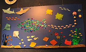 折り紙壁画
